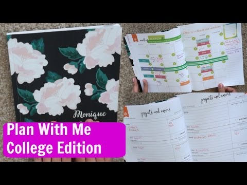 How to use erin condren academic planner | Plan with me college edition