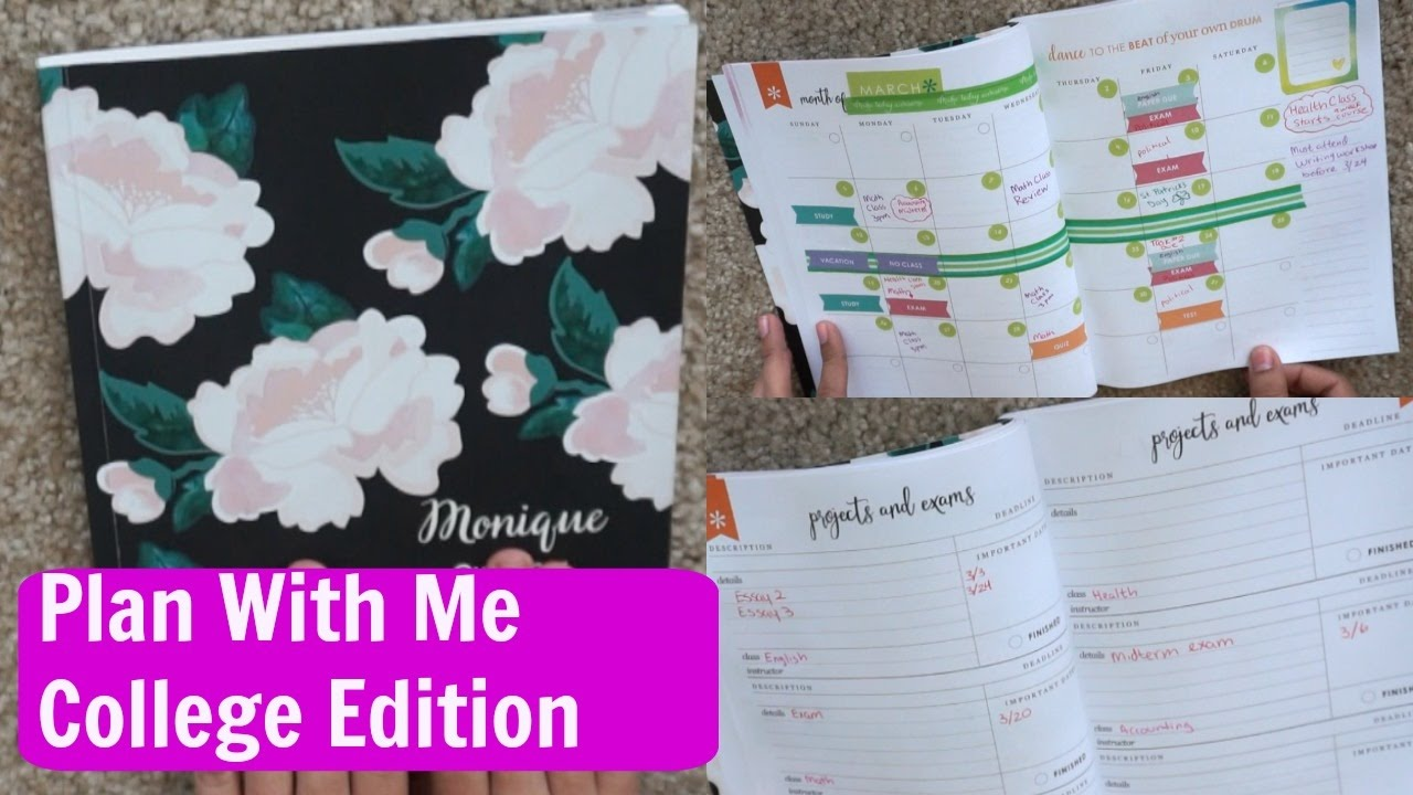 How To Use Erin Condren Academic Planner Plan With Me College