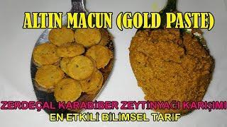 ZERDEÇAL- KARABİBER - ZEYTİNYAĞI KARIŞIMI | ALTIN MACUN ( GOLD PASTE - CURCUMIN)