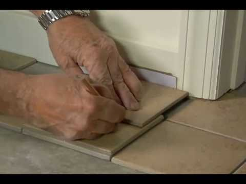 How To Fit Tile Around Door Casings Jambs Youtube