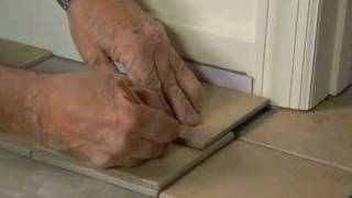 How to Fit Tile Around Door Casings & Jambs