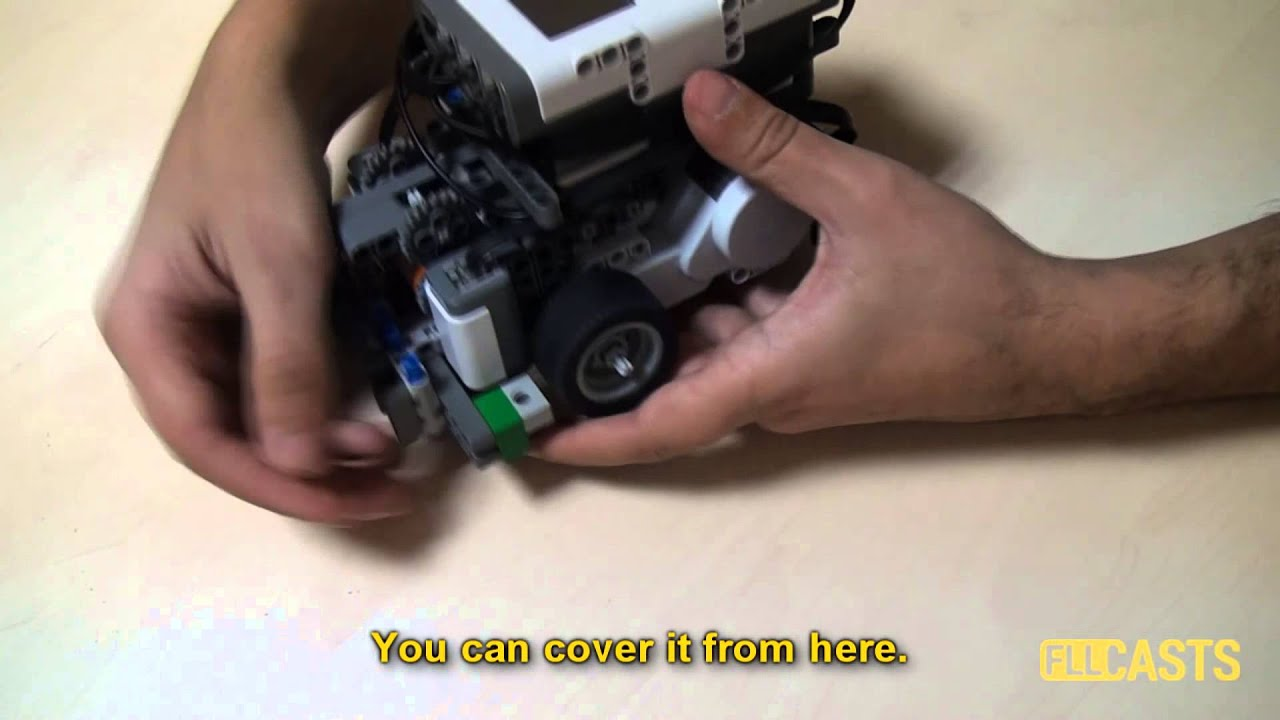 How to Build Light Sensors Cover on LEGO Mindstorms NXT robots - YouTube