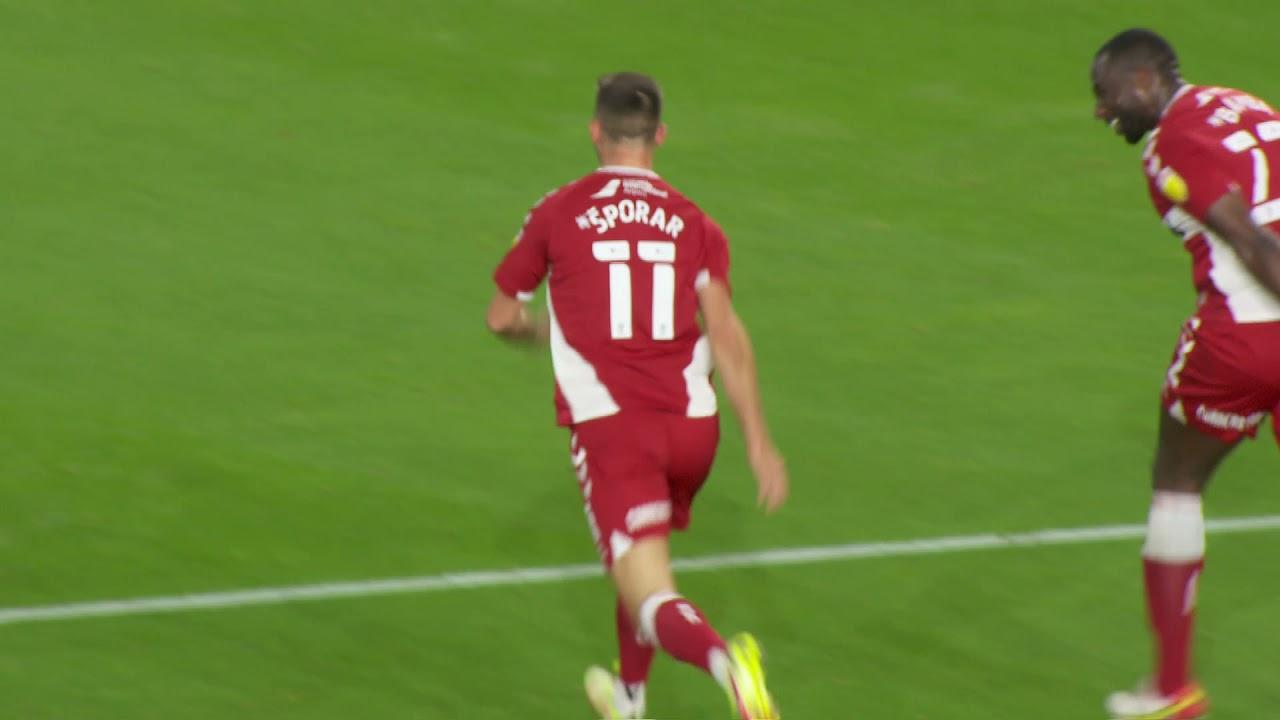 Šporar scores goal in Championship