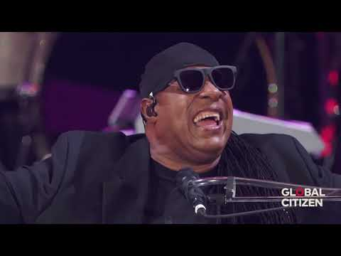 Stevie Wonder | Live Global Citizen 2017 ~ Master Blaster (Jammin) & Higher Ground | Part 1