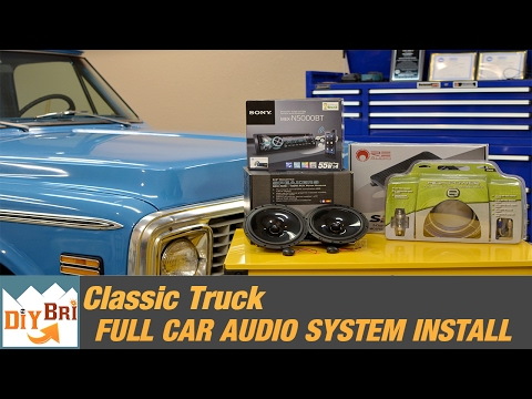 Full Sound System Install Upgrade | Classic Chevy Stereo Install