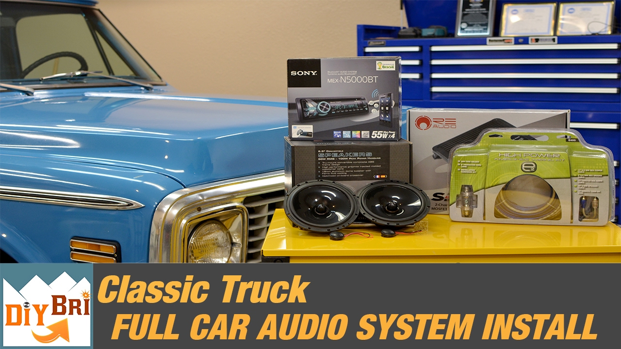 Full Sound System Install Upgrade Classic Chevy Stereo 1972 C10 Dash Cluster Wiring Diagram