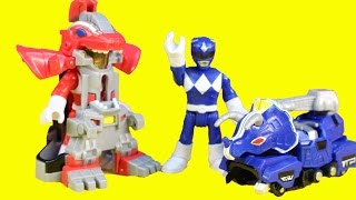 Imaginext Power Rangers Battle Armor Black Red & Blue Ranger Help Batman