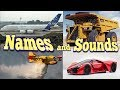 Learning Vehicles Names and Sounds for Kids Learn Cars, Trucks & Vehicles