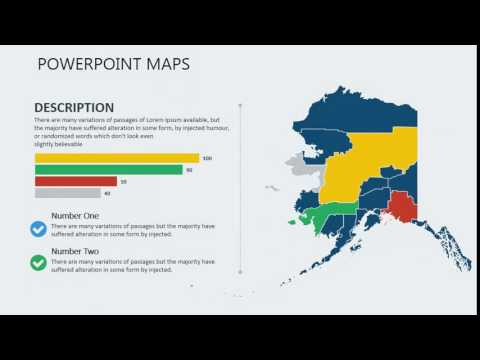 Alaska - PowerPoint map of Alaska with Counties