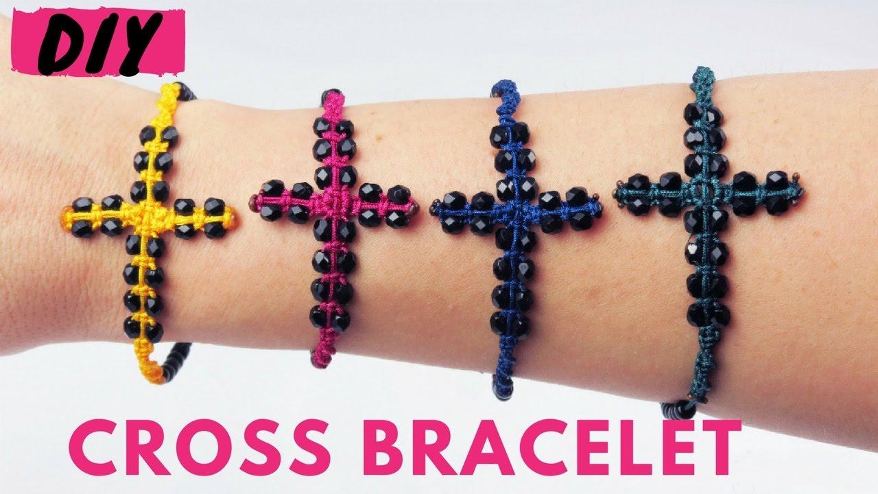 Diy Funky Macrame Cross Bracelet Tutorial ά
