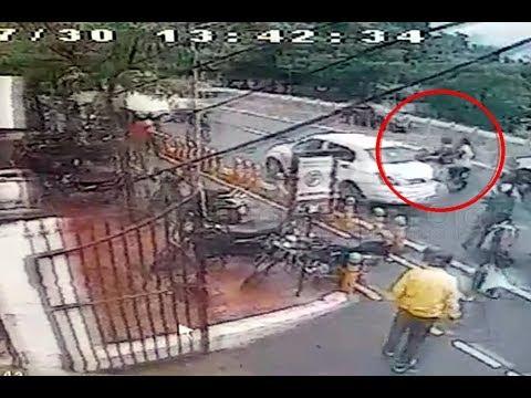 Lucknow : कैश वैन से 20 लाख रुपये की लूट, गार्ड की हत्या, देखें CCTV फुटेज
