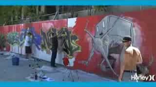 Hurley - Alex Pardee Timelapse Painting in San Fransico