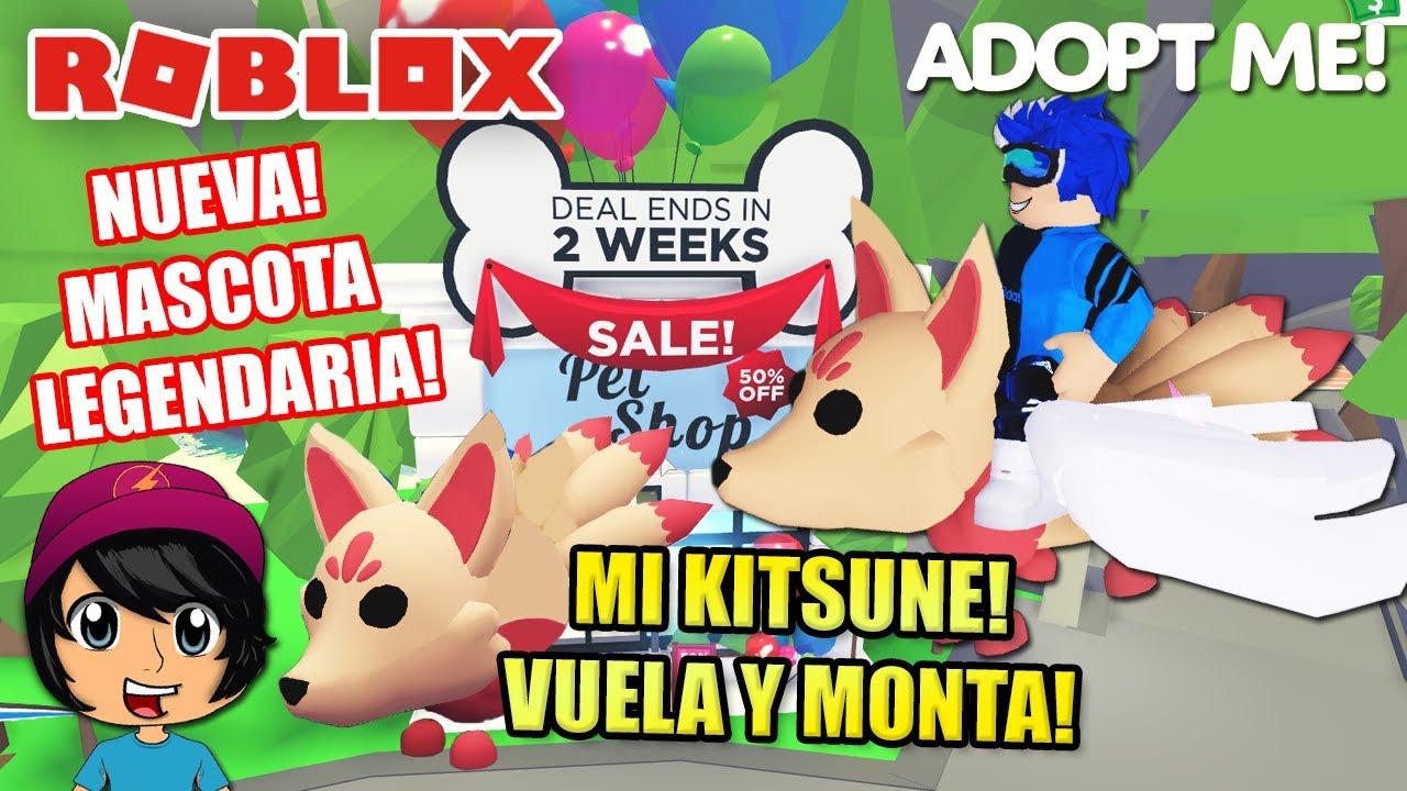 MI NUEVA MASCOTA! KITSUNE LEGENDARIO!    SoyBlue   Adopt Me Roblox Español