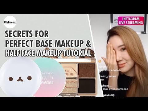 Secrets for perfect makeup & half face makeup tutorial