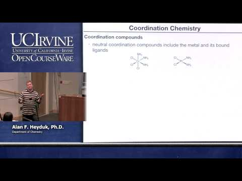 Chemistry 107. Inorganic Chemistry. Lecture 20.