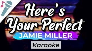 Jamie Miller - Here's Your Perfect - Karaoke Instrumental (Acoustic)