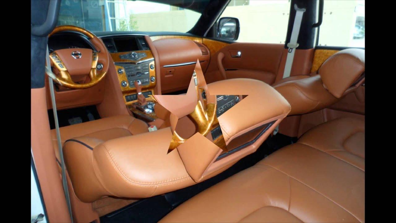 Nissan Patrol 2012 interior Golden color