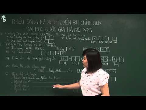 Hướng dẫn làm hồ sơ xét tuyển Đại học Quốc gia Hà Nội 2015