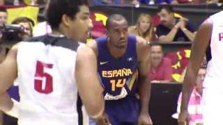 España vence a Angola en Sevilla