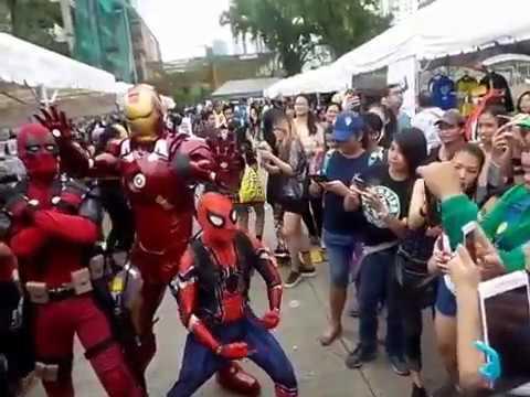 Ironman meets Spiderman and Deadpool in Cebu City
