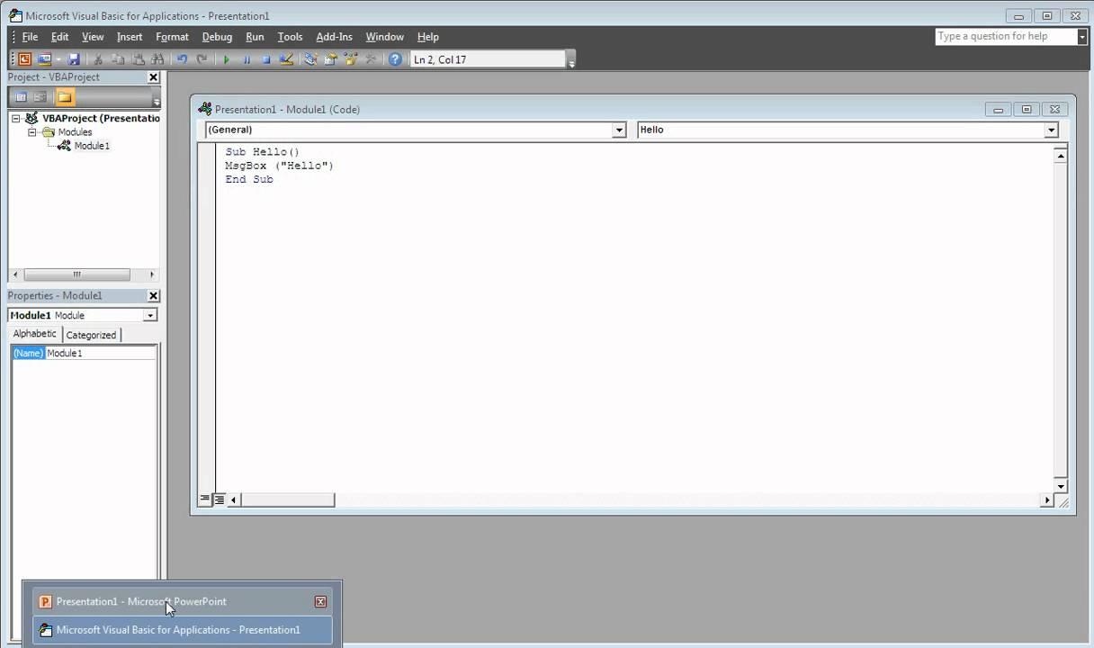 How to create Macros in MIcrosoft Powerpoint 2010