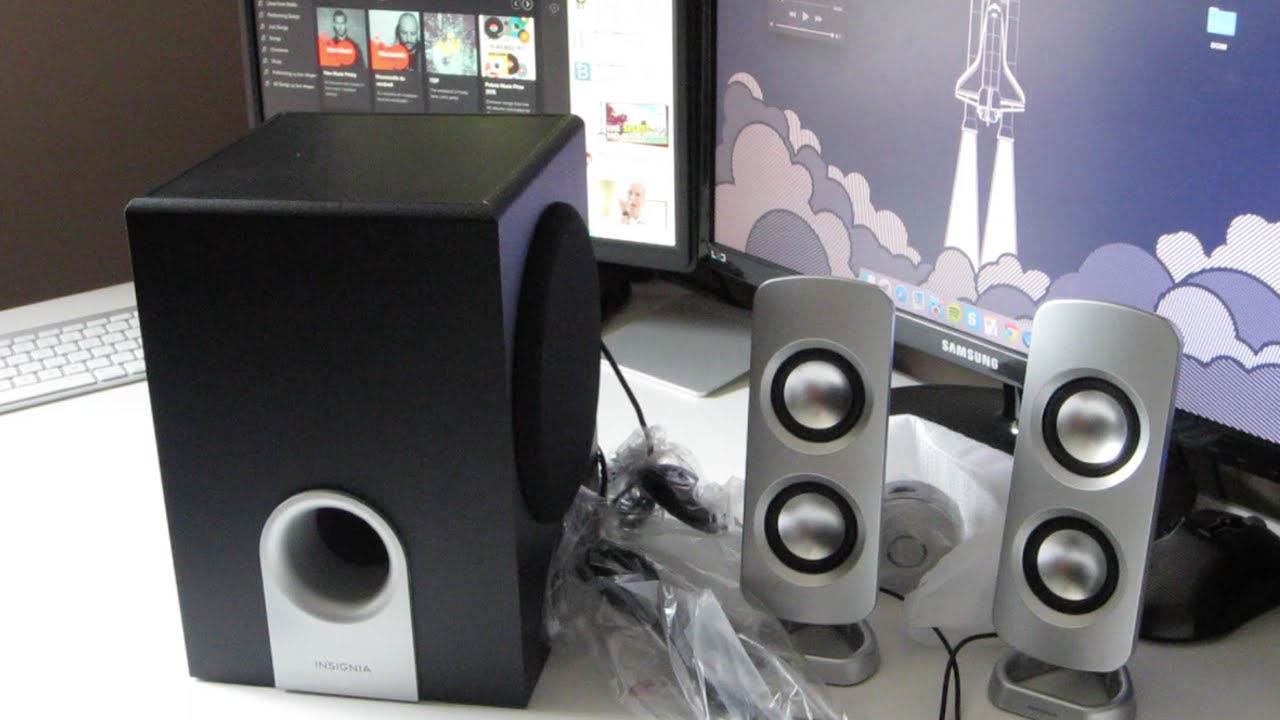 Unboxing Insignia 21 Computer Speakers NS PSD5321