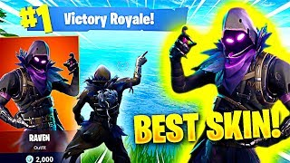 THE *BEST* SKIN FORTNITE HAS DROPPED YET! (Fortnite Battle Royale NEW Raven Skin)