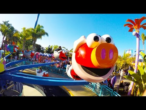 [4k] Elmo's Flying Fish - SeaWorld (San Diego, CA)