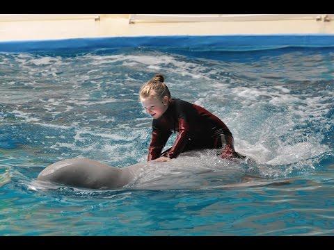 Girl Riding Beluga Whale