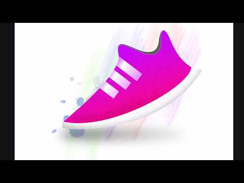 Shoe design with ipad air 2 using Affinity Photo for ipad