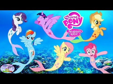 Thumbnail: MY LITTLE PONY Transforms Into Mermaids MANE 6 Coloring Book Surprise Egg and Toy Collector SETC