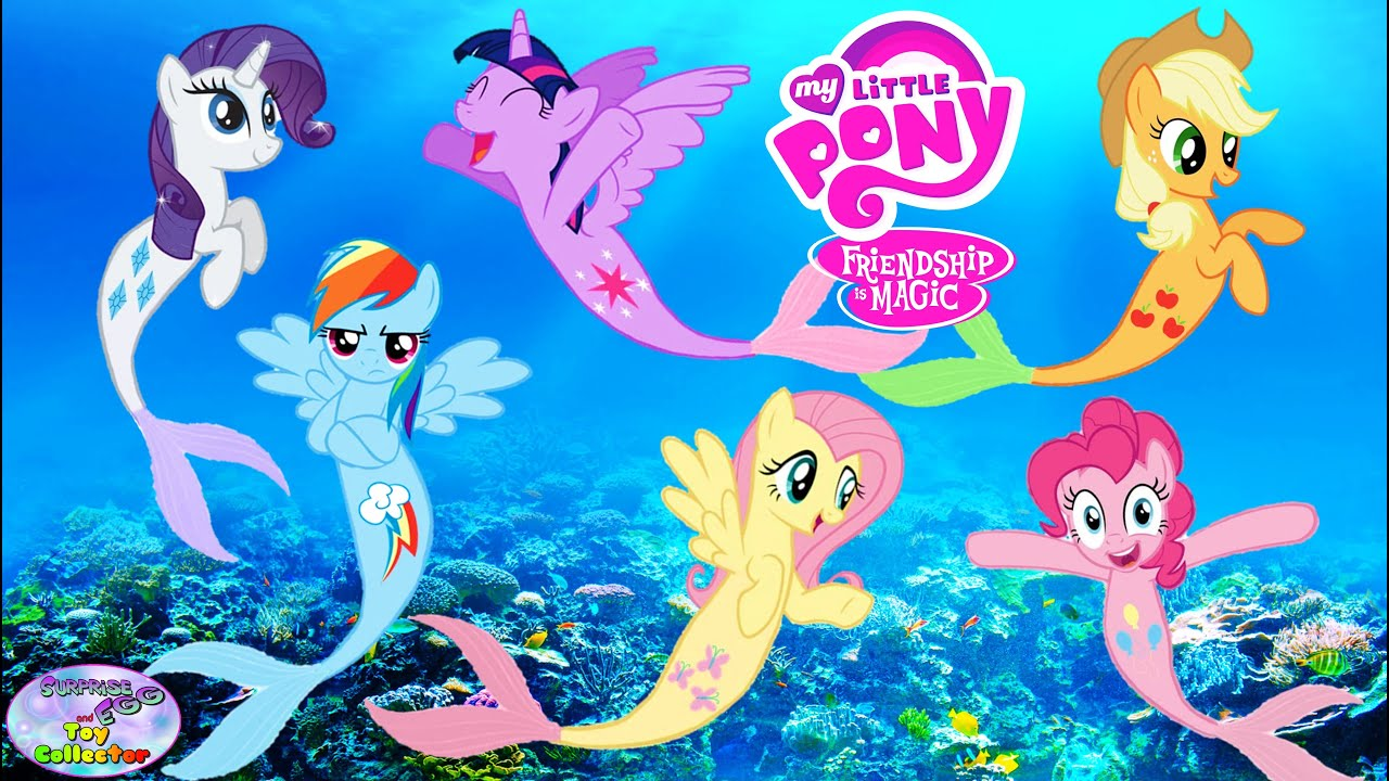 My Little Pony Transforms Into Mermaids Mane 6 Coloring Book