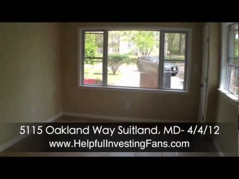 We Buy, Sell & Rent Houses in Suitland MD - 5115 Oakland Way