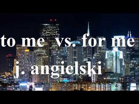 'to me' vs. 'for me'  - jaka jest różnica, jak stosować - język angielski