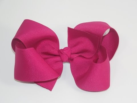 How To Make A  Big Girl Boutique Hair Bow