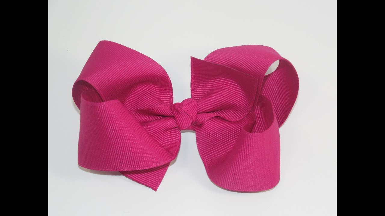 How To Make A Big Girl Boutique Hair Bow Youtube