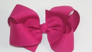 How To Make A  Big Girl Boutique Hair Bow thumbnail