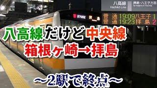 【2駅で終点】八高線 箱根ヶ崎始発拝島行きに乗車!