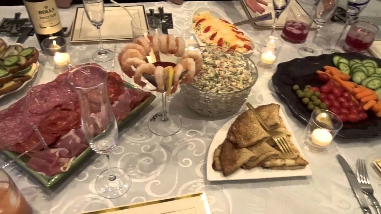 Russian Old New Year Celebration, Russian Food - YouTube