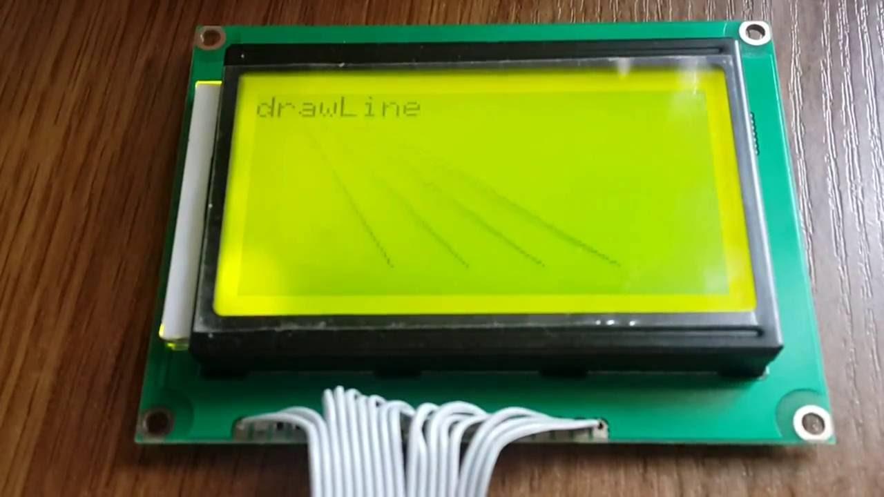 Жидкокристаллический монохромный дисплей QC12864B(LCD12864 на ST7920