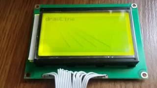ЖК дисплей LCD12864 на ST7920 в связке с ARDUINO NANO. Работа через интерфейс HWSPI.