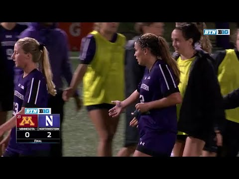 Minnesota at Northwestern - Women's Soccer Highlights