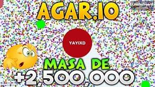 AGAR.IO MASA DE 2,624,074 PUNTOS INCREIBLE EXPERIMENTAL + PRIVATE SERVER AGARIO