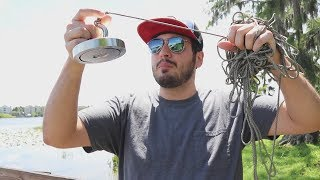 Baixar Procurando TESOUROS no Lago com um Imã GIGANTE !! ( PESCA MAGNÉTICA )