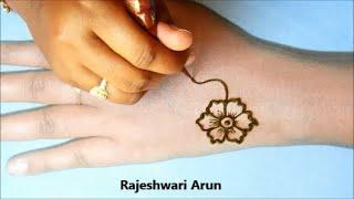 Simple Arabic Mehndi Design for backhands 2020 * new latest henna designs * beginners mehndi designs