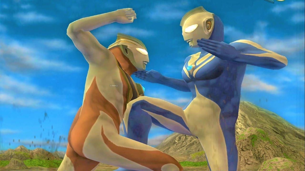 Sieu Nhan Game Play | Ultraman cosmos đánh nhau với quái vật | Game Ultraman Fer