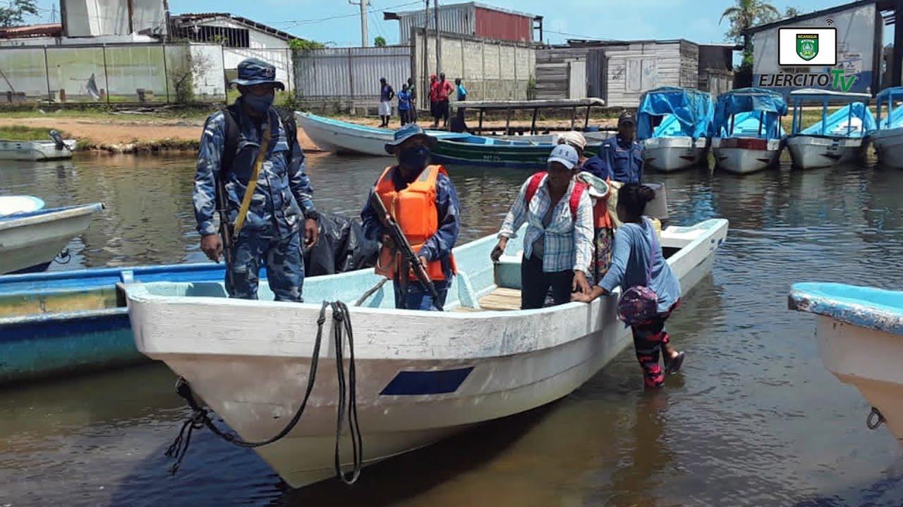 Distrito Naval Caribe trasladó a menor de edad por complicaciones de salud desde Wawa Bar