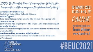 IIRPS VU Parallel Panel Conversation: What is the Temperature of the European Neighbourhood Policy?
