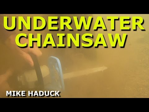 using a underwater chainsaw