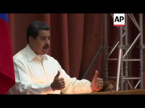 Maduro in Cuba, blames Trump admin for unrest
